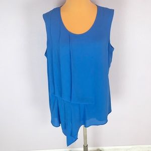 Mossimo Cobalt Blue pLeated Front Draped Tank